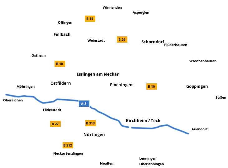 Einsatzgebiet Tierrettung Mittlerer Neckar